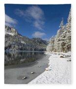 Mcleod Lake Fleece Blanket