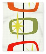 Mcm Shapes 1 Fleece Blanket