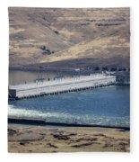 Mcnary Dam Fleece Blanket