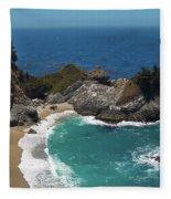 Mcway Falls In Big Sur Fleece Blanket