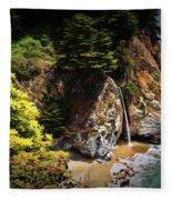 Mcway Falls Painting Fleece Blanket