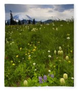 Meadow Beneath The Storm Fleece Blanket