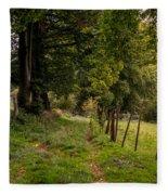 Meadow Grass Path Fleece Blanket