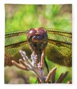 Meadow Hawk Dragonfly 2 Fleece Blanket
