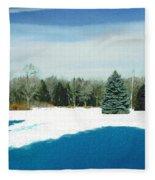 Meadow Snow Fleece Blanket