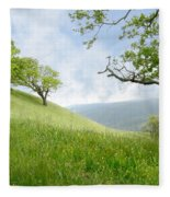 Meadow View Spring Fleece Blanket