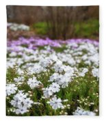 Meadow With Flowers At Botanic Garden In The Blue Mountains Fleece Blanket