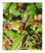 Meadowhawk Dragonfly Fleece Blanket