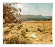 Meadows And Mountains Fleece Blanket