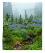 Meadows In The Mist Fleece Blanket