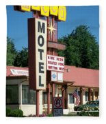 Mecca Motel Fleece Blanket