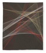 Mechanic Computer Graphic Line Pattern Fleece Blanket