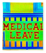 Medical Leave Art Fleece Blanket