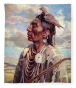 Medicine Crow Fleece Blanket