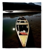 Medicine Lake In Jasper National Park Fleece Blanket