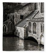 Medieval Architecture Of Bruges Fleece Blanket