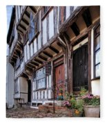 Medieval British Architecture - Dick Turpin's Cottage Thaxted Fleece Blanket