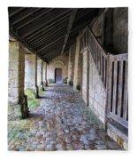 Medieval Church Entrance Fleece Blanket