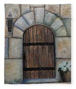 Medieval Door Fleece Blanket