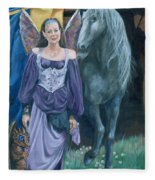 Medieval Fantasy Fleece Blanket