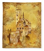 Medieval Golden Castle Fleece Blanket
