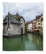 Medieval Jail In Annecy Fleece Blanket