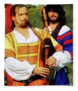 Medieval Minstrels Fleece Blanket