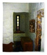Medieval Monastic Cell Fleece Blanket