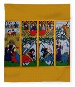 Medieval Scene Fleece Blanket