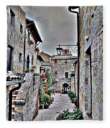 Medieval Street Fleece Blanket