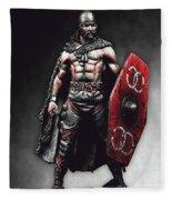 Medieval Warrior - 13 Fleece Blanket