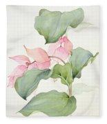 Medinilla Magnifica Fleece Blanket