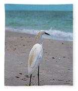 Meditating On The Sea Fleece Blanket