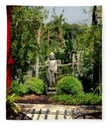 Meditation Garden Fleece Blanket