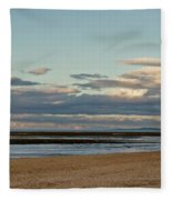 Meditation In The Coming Dusk. Fleece Blanket