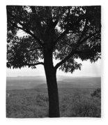Meditation Tree  Fleece Blanket