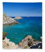 Mediterranean Blue Fleece Blanket