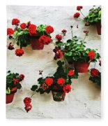 Mediterranean Flower Fleece Blanket