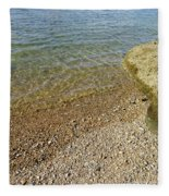 Mediterranean Seascape  Fleece Blanket
