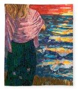 Mediterranean Sunset Fleece Blanket