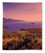 Mediterranean Sunset Glow Fleece Blanket
