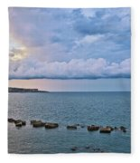 Mediterranean View II Fleece Blanket