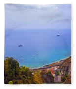 Mediterranean View Fleece Blanket
