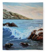 Mediterranean Wave Fleece Blanket
