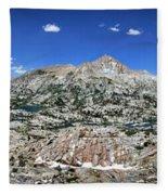 Medley Lake Basin Panorama From High Above - Sierra Fleece Blanket