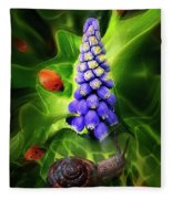 Meet Me At The Hyacinth Fleece Blanket