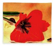 Meet Me In The Tulips Fleece Blanket
