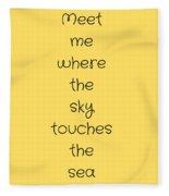 Meet Me Where The Sky Fleece Blanket