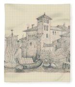 Meeting At The Docks Classics 2 Fleece Blanket