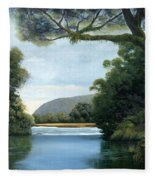 Meeting Of The Waters Fleece Blanket